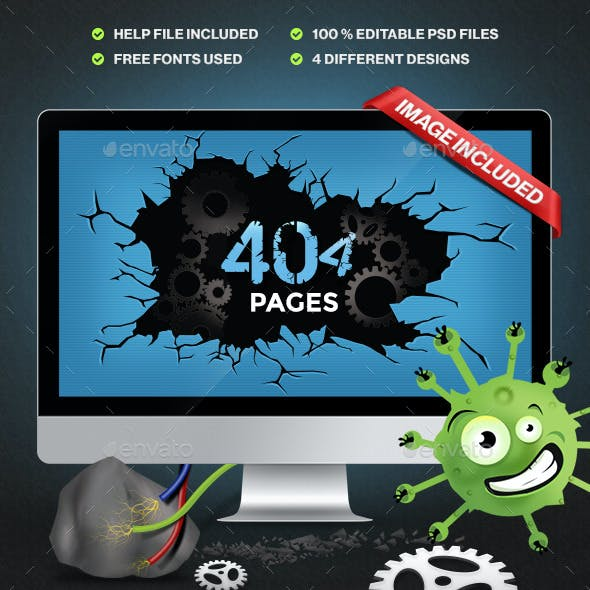 404 Pages - 4 Designs