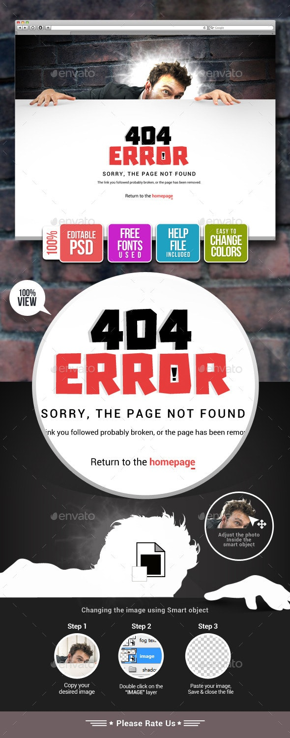22 Best 404 Page Templates  for March 2019