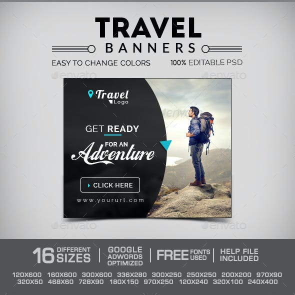 Travel & Tourism Web Banners