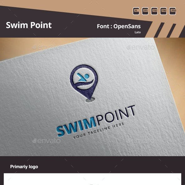Swim Point Logo Template