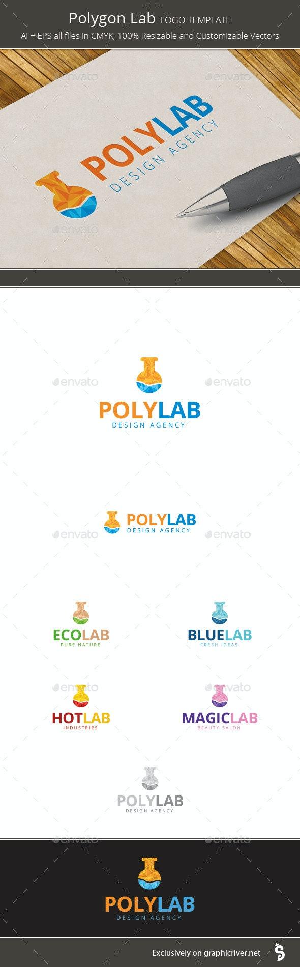 Polygon Lab - Logo Template - Vector Abstract
