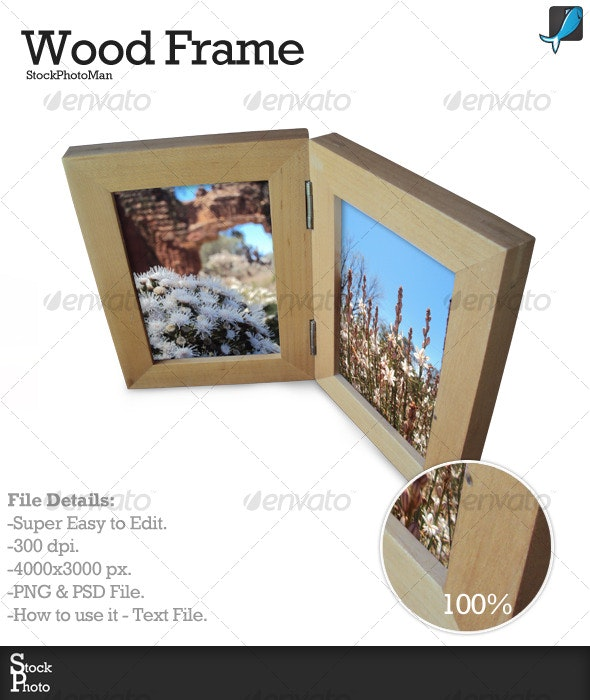 Wood Frame - Home & Office Isolated Objects