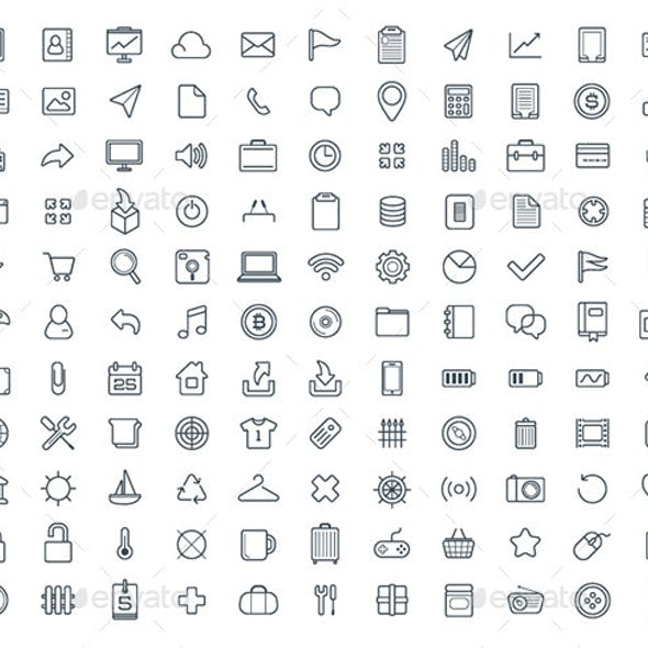 120+ Vector Icons Set