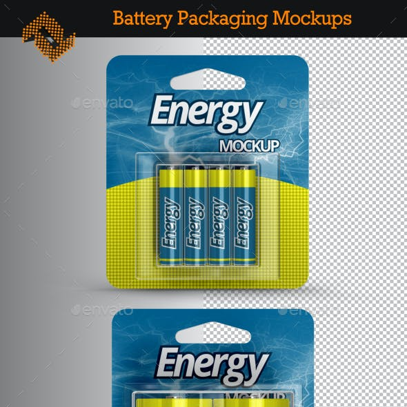 4 Battery Packaging Mockups