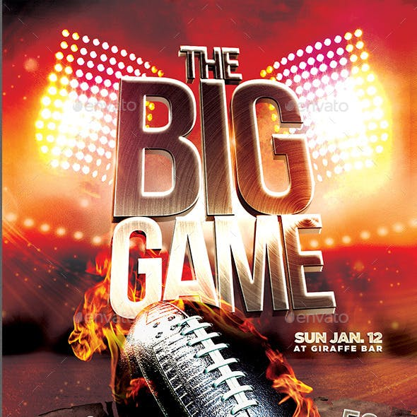 The Big Game Football Flyer Template