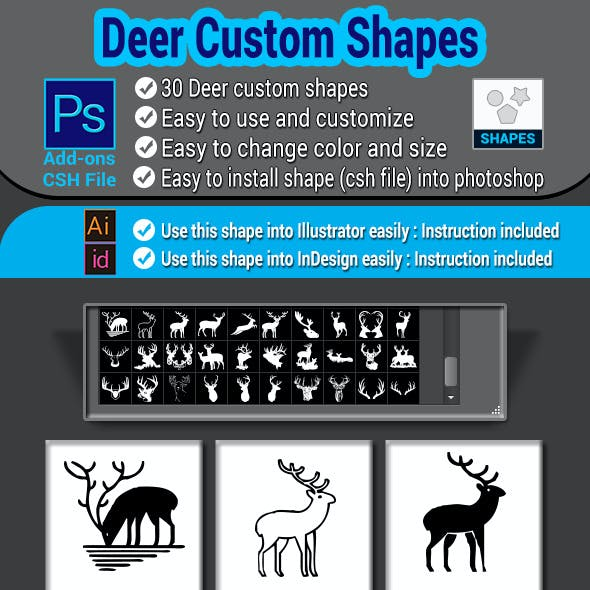Deer Custom Shapes