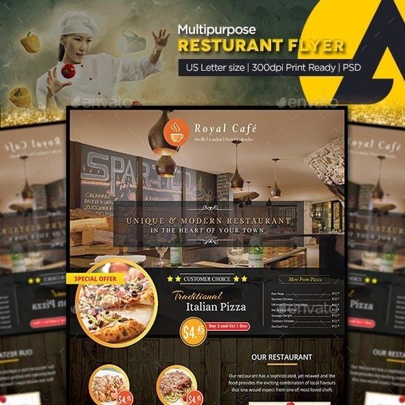 Multipurpose Restaurant Flyer