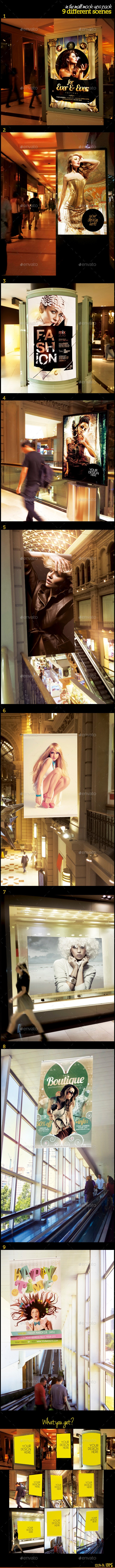 In The Mall Mock-Ups Pack - Posters Print