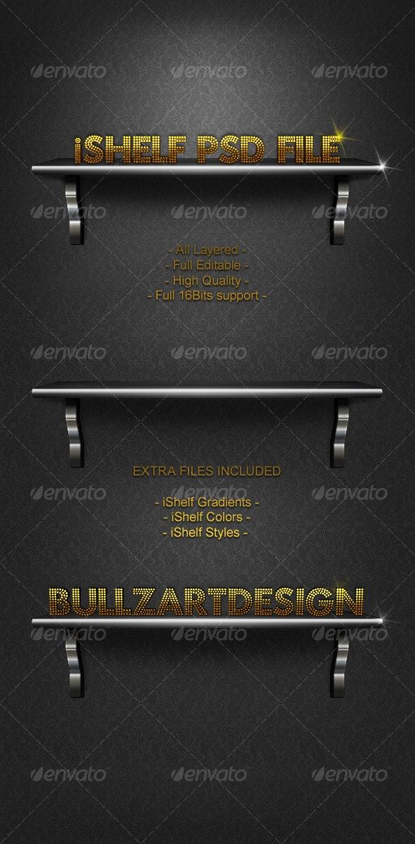 iShelf BullzArt PSD  - Miscellaneous Graphics