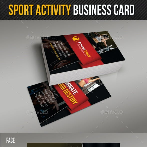 Sport Activity Business Card 04