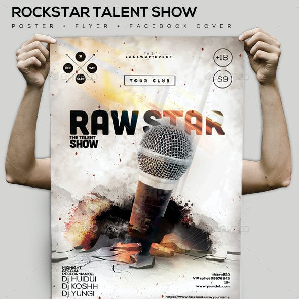 Rock-Star Talent Poster/Facebook Cover