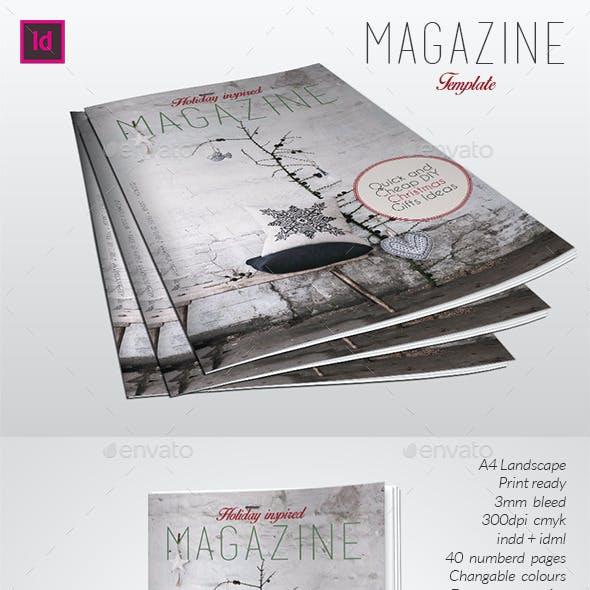 Holyday Inspired Magazine Template