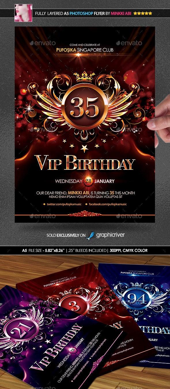 VIP Birthday Poster/Flyer - Flyers Print Templates
