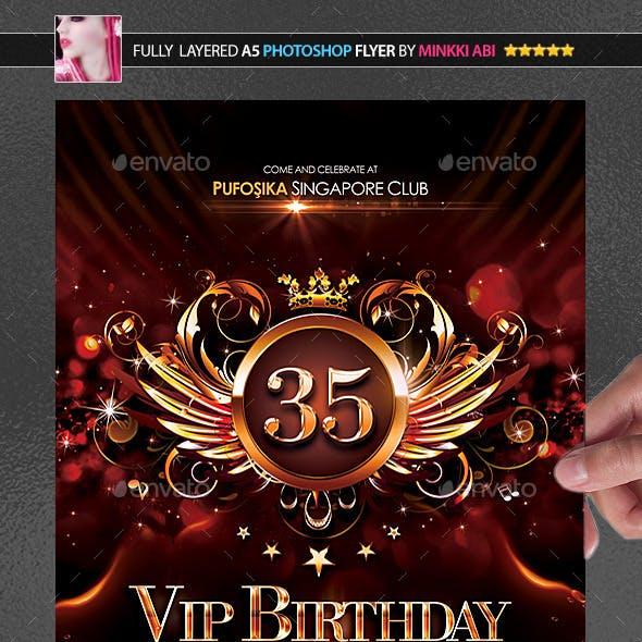 VIP Birthday Poster/Flyer