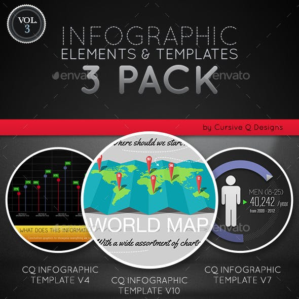 Infographic Elements and Templates 3 Pack Vol. 3
