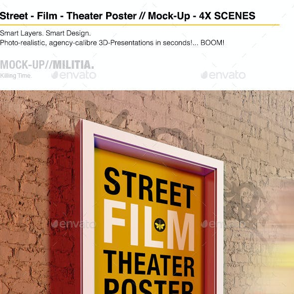 Theatre | Theater | Film | Outdoor Poster Mock-Up