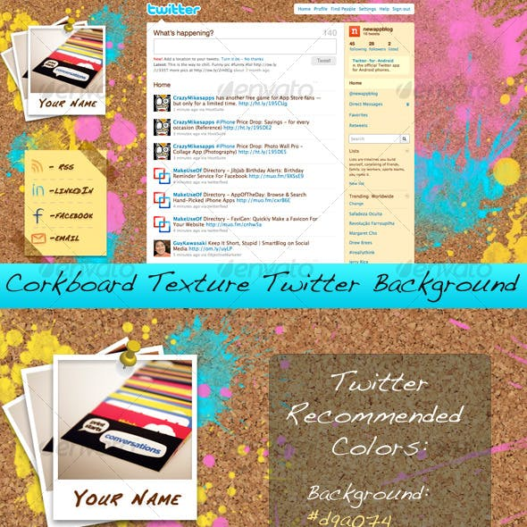 Corkboard Texture Twitter Background