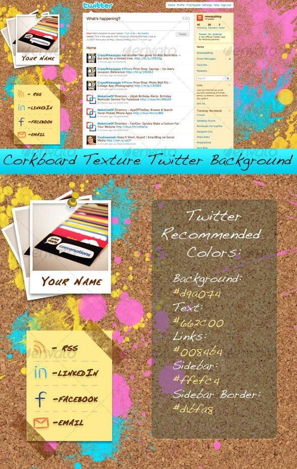 Corkboard Texture Twitter Background - Miscellaneous Web Elements