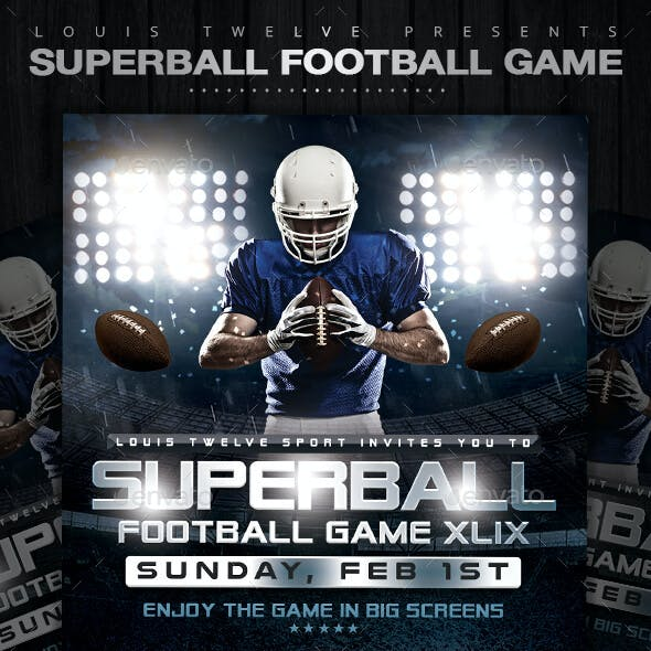 SuperBall Game or College Football Flyer