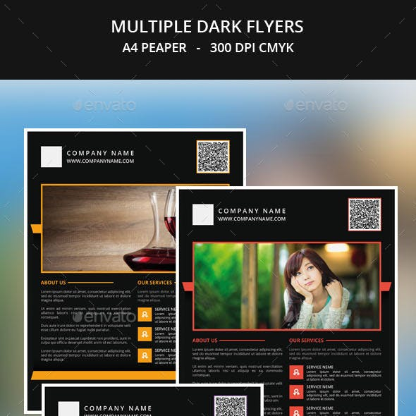 Multiple Dark Flyer Templates