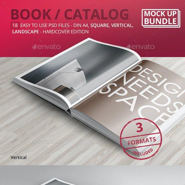 Book / Catalog Mock-Ups Bundle Hardcover Edition