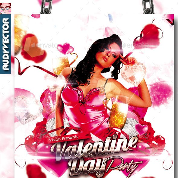 Valentine Day Party Flyer