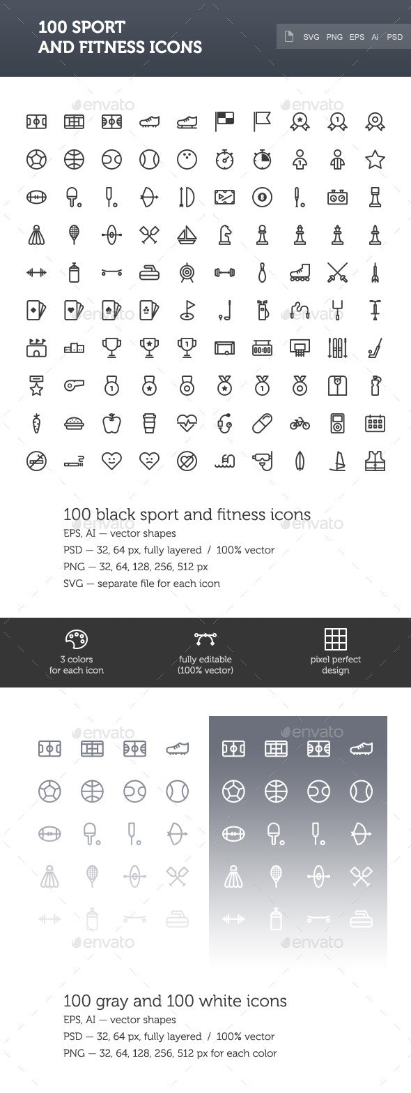 Sport and Fitness Icon Set - Miscellaneous Icons