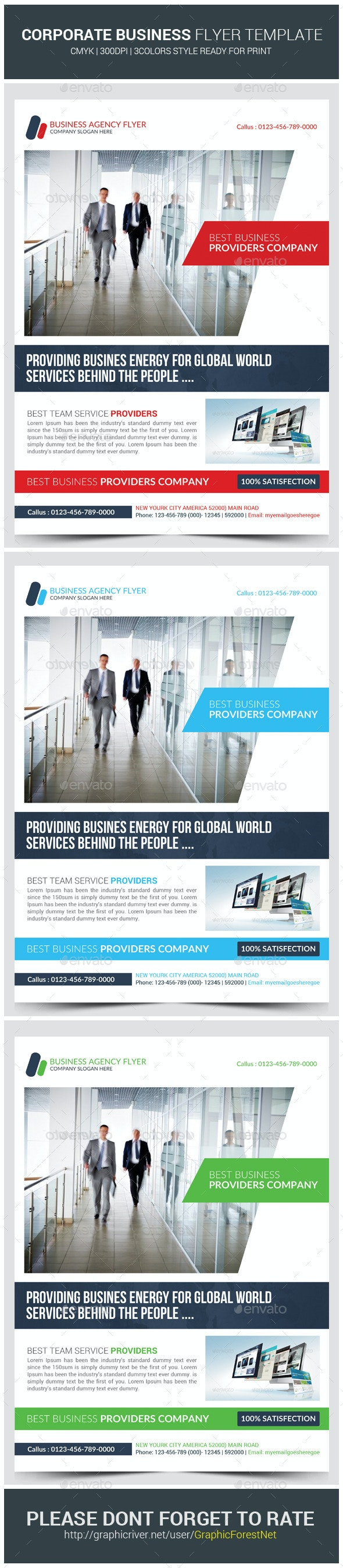 Corporate Business Office Flyer Template - Corporate Flyers