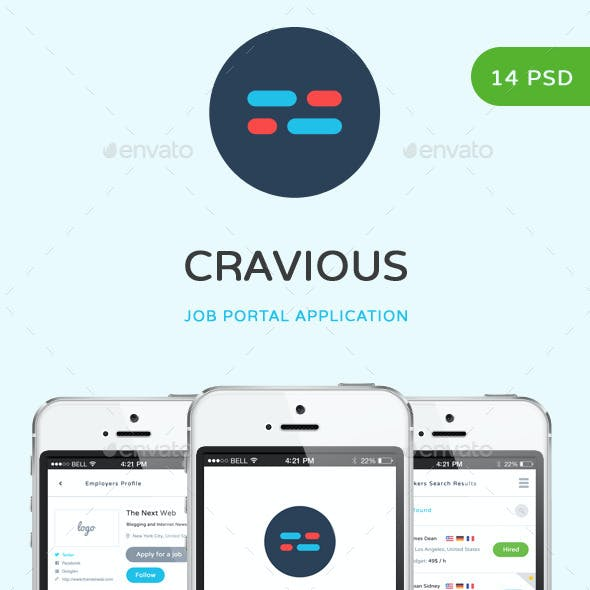 Cravious - Job Portal Application