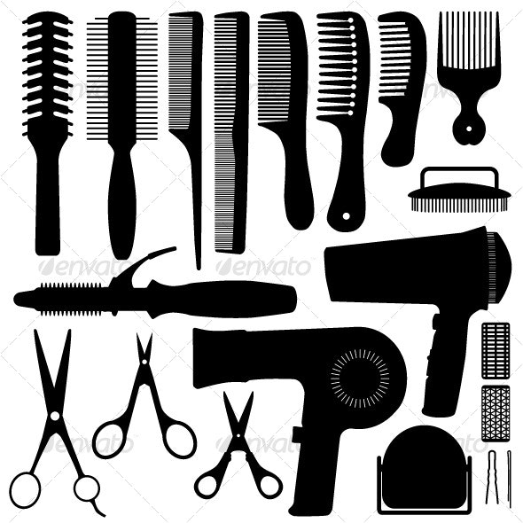 Hair Accessories Silhouette Vector - Man-made Objects Objects