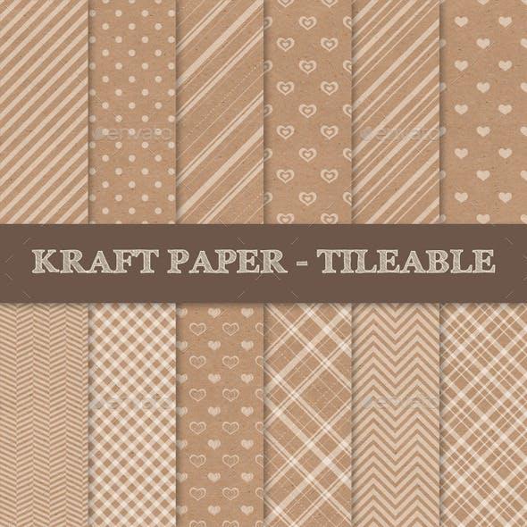 Kraft Paper Texture Seamless Patterns