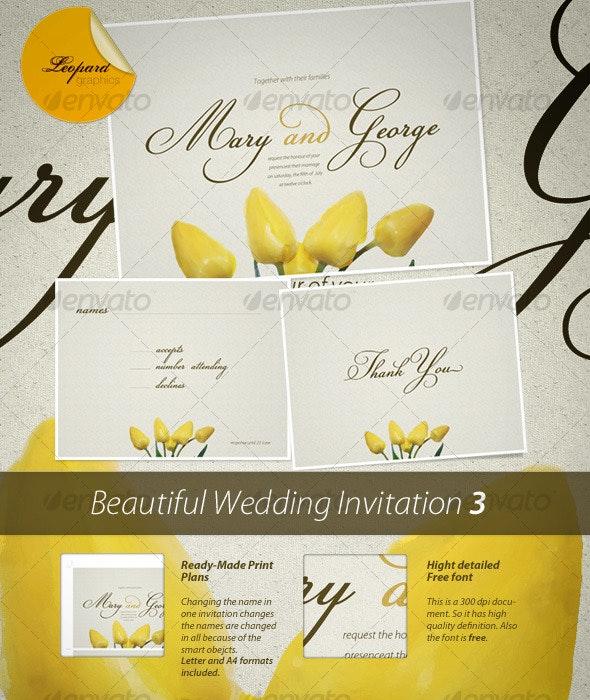 Wedding Invitation 3 - Weddings Cards & Invites