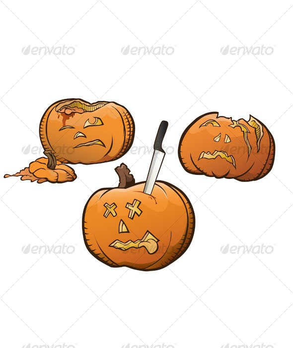 Carved Pumpkins - Halloween Seasons/Holidays