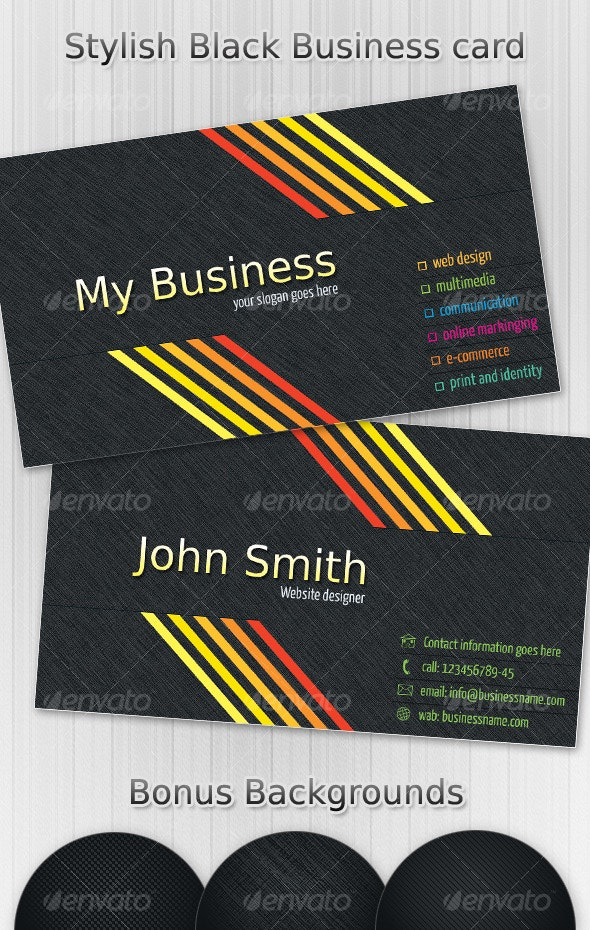 Stylish Black Business Card Vol.2 - Business Cards Print Templates