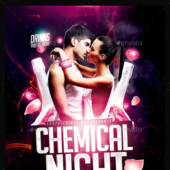 Chemical Night | Flyer Template PSD