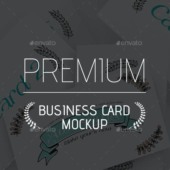 Business Card Mockup Gravity Zero
