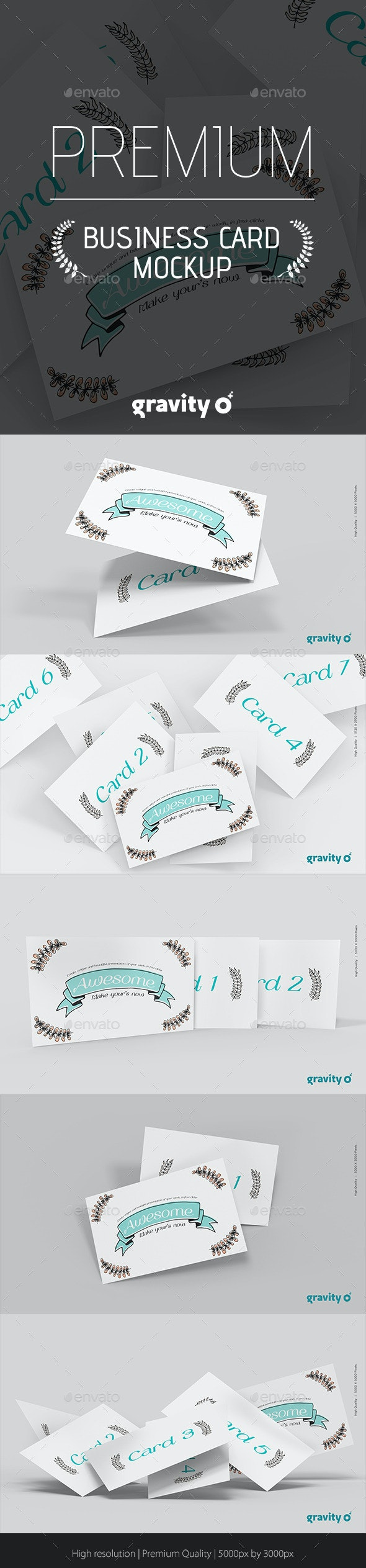Business Card Mockup Gravity Zero - Business Cards Print