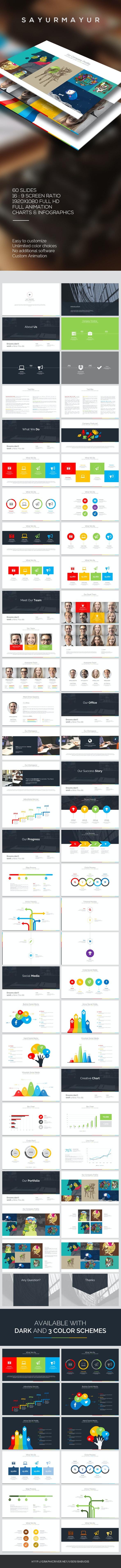 Sayurmayur PowerPoint Template - PowerPoint Templates Presentation Templates