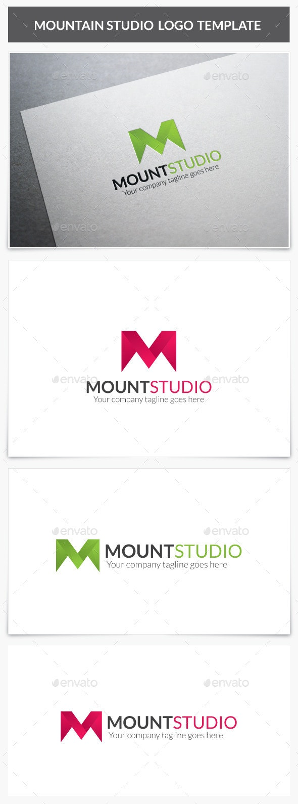 Mountain Studio Logo - Letters Logo Templates