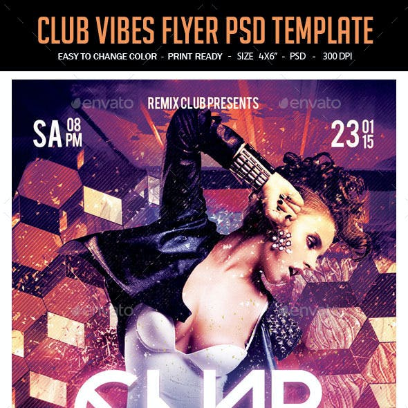 Club Vibes Flyer PSD Template