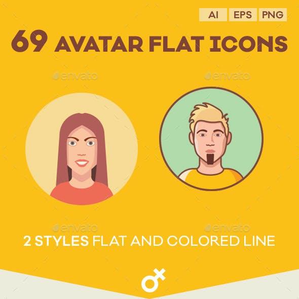Avatar Flat Icon Set