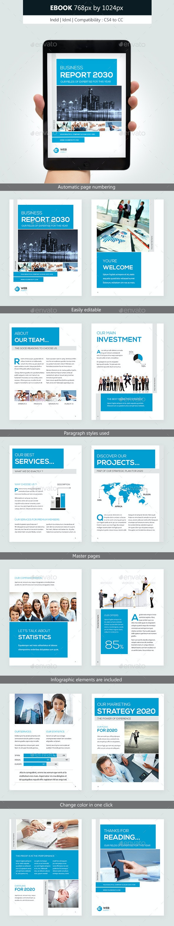 Corporate Ebook Template Design - Digital Books ePublishing