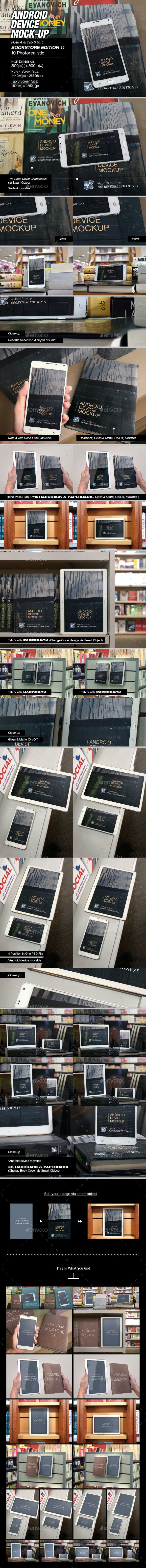myAndroid Device Mock-up - Mobile Displays