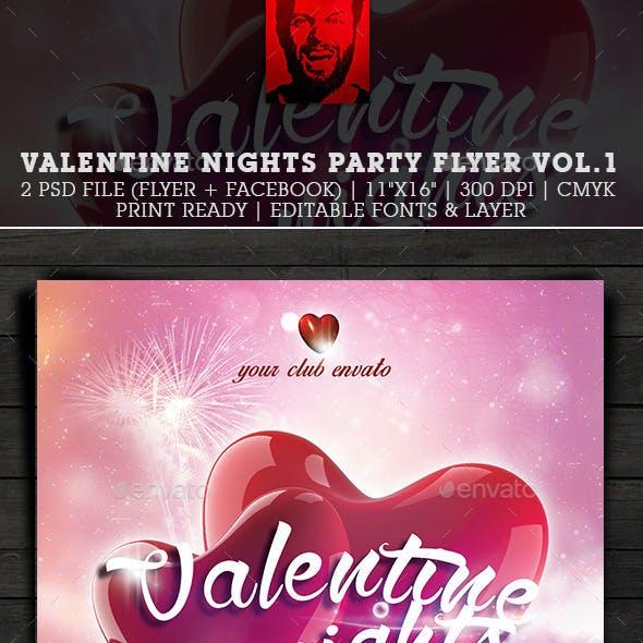 Valentine Nights Party Flyer Vol.1