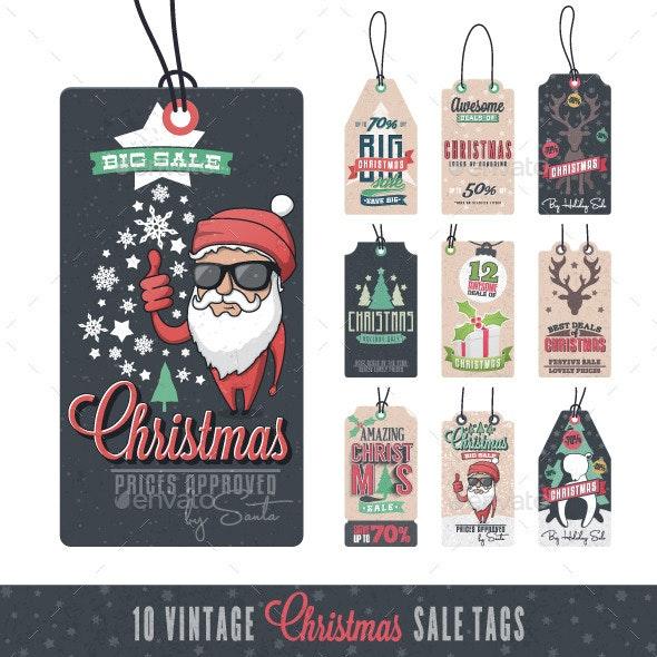 Christmas Sales Related Vintage Hang Tags - Christmas Seasons/Holidays