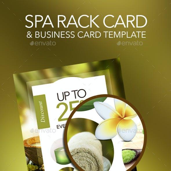 Spa Rack Card & Business Card Template