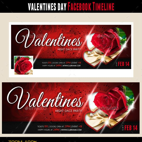 Valentines Day Facebook Cover