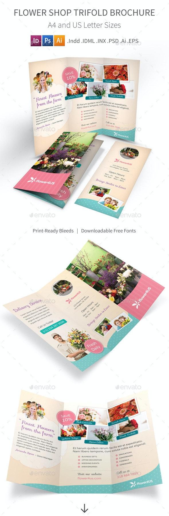 Flower Shop Trifold Brochure - Informational Brochures