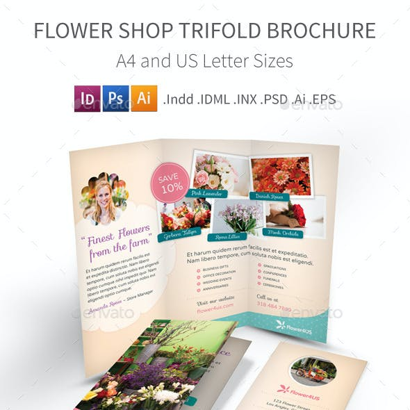 Flower Shop Trifold Brochure