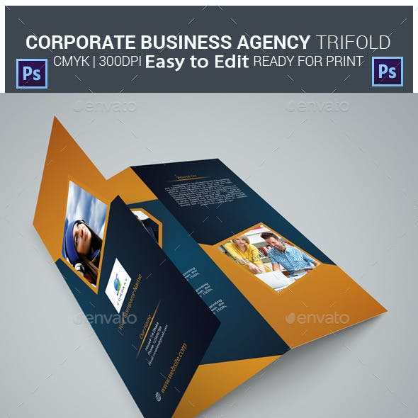 Corporate Business Agency Tri-fold Brochure